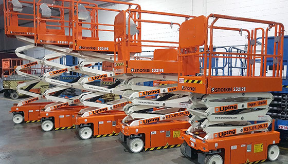 Snorkel Scissor Lifts Delivered to Uping Acces