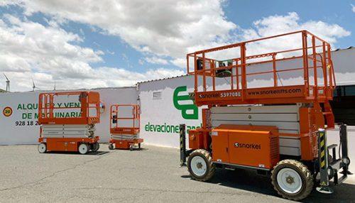 Snorkel scissor lifts delivered to Elevaciones Archipiélago