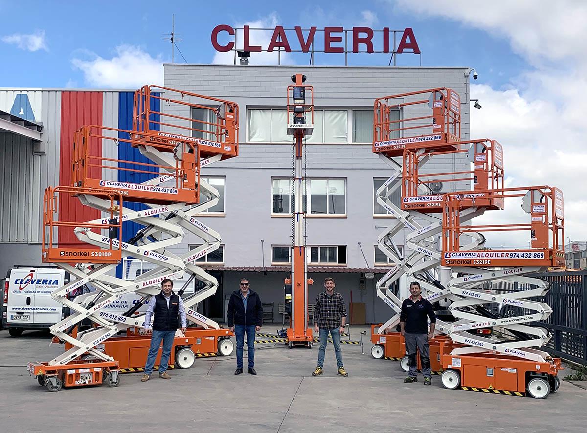 Eleven Snorkel Lifts For Clavería Servicios